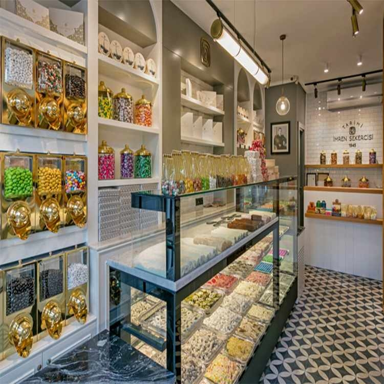Professional modern sweet shop counter design