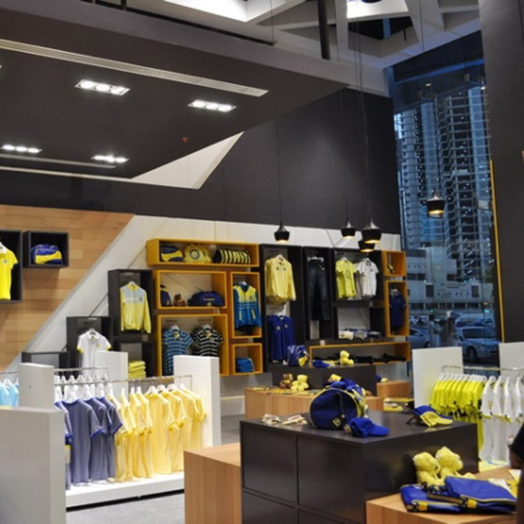 Factory customized clothes shop counters for clothes shop interior decoration