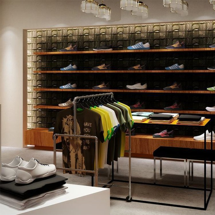 Factory price customized sports shoe display cabinet for sale