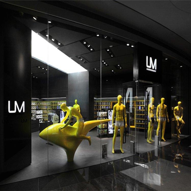 High end modern underwear shop interior design