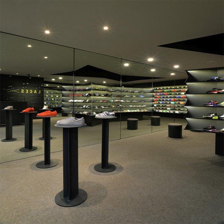 Unique shape shoe showcase with light
