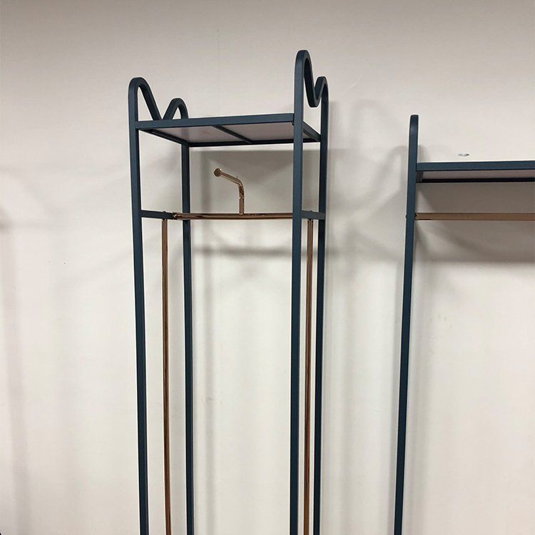 Wholesale stainless steel display rack for garment store