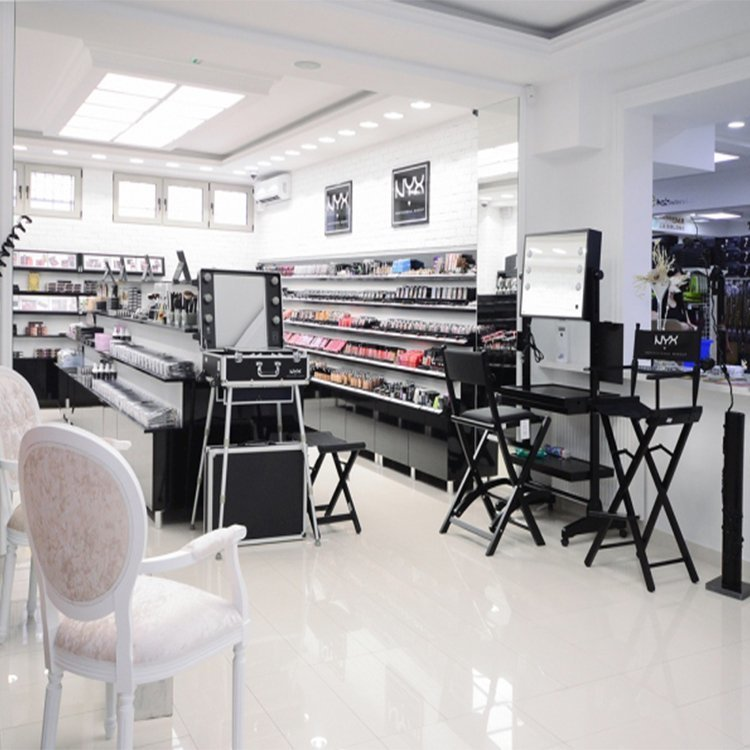Factory customized cosmetic store shelf for cosmetic shop interior design