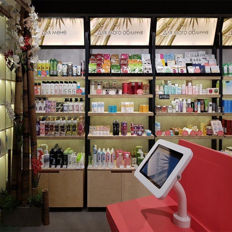 Modern useful cosmetic shop interior design