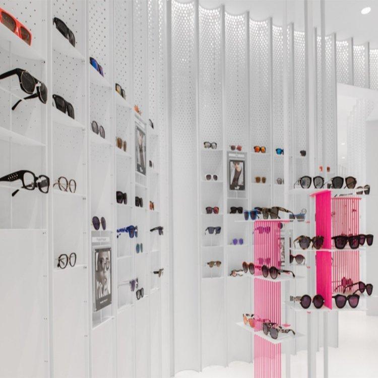 wall mount metal optical frame displays