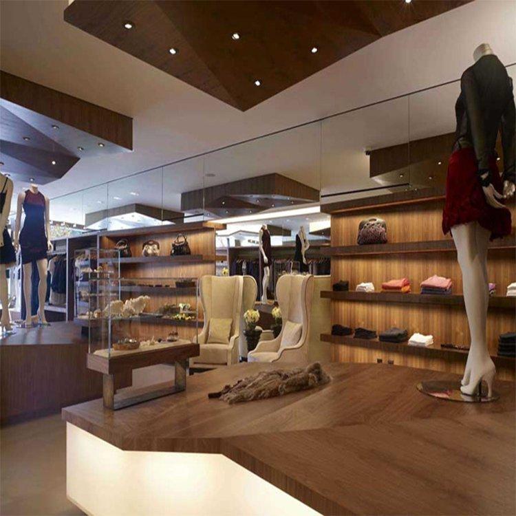 Modern fashion garment shop decoration design