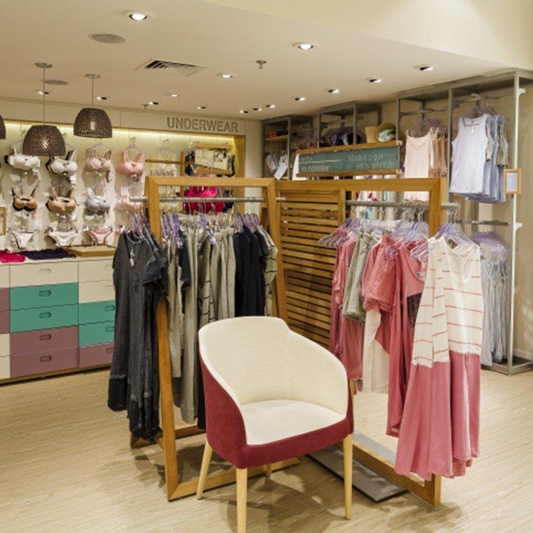 Fashion high quality underwear store wooden display rack