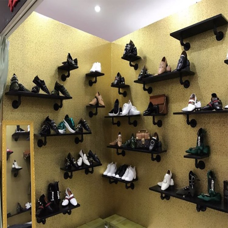 Customized creative shoe rack display for shoe sale