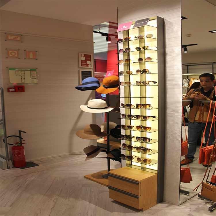 Direct manufacturer fashion sunglasses display rack for optical shop interior design