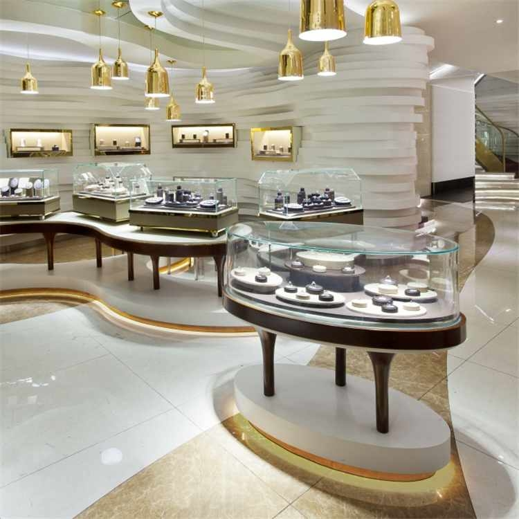Customized luxury jewelry cabinet for jewelry shop interior design