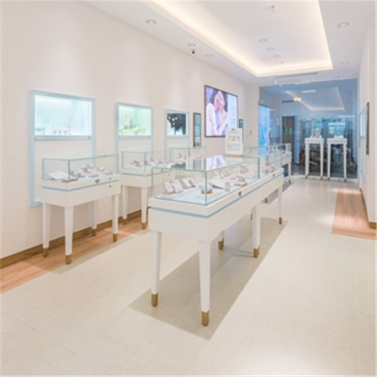 Professional customized elegant jewelry display showcase for jewelry shop interior design