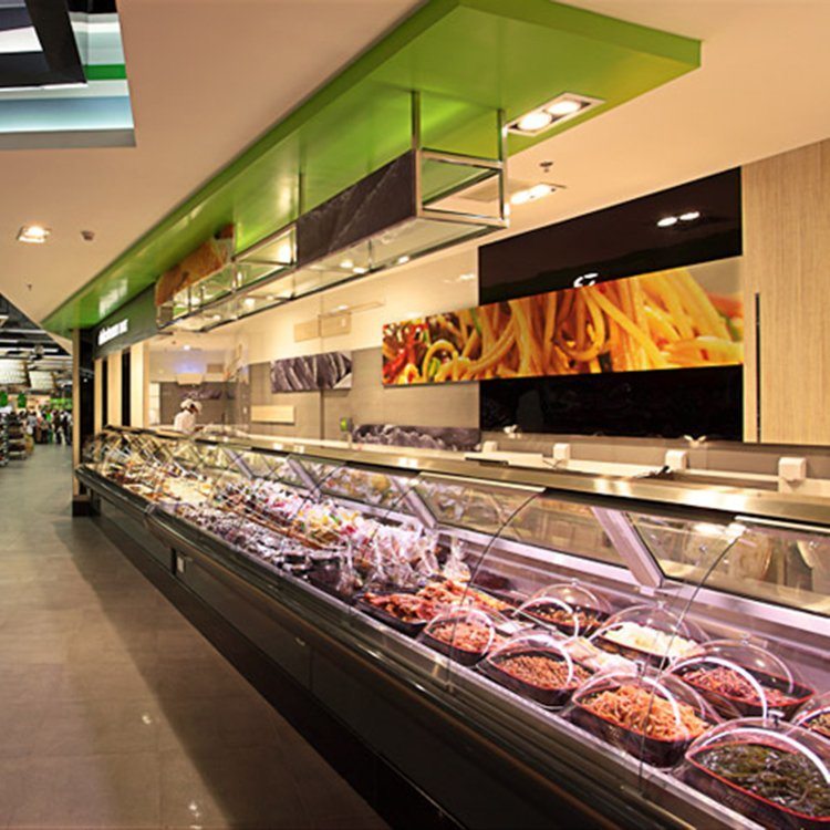 factory outlet shop fittings for supermarket goods display