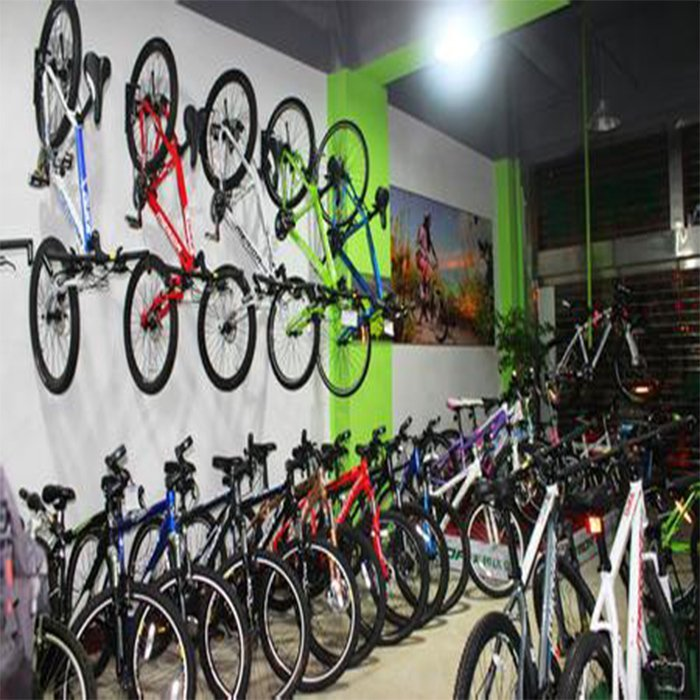 Customized durable bicycle rack for shop interior decoration