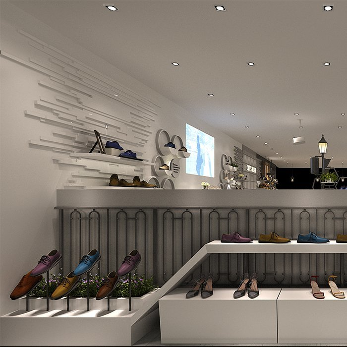 Factory customized creative attractive shoe display fixture for shoe sale