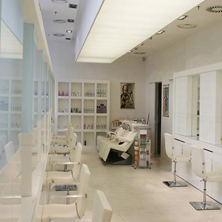 Factory customized salon reception desk for salon shop interior design