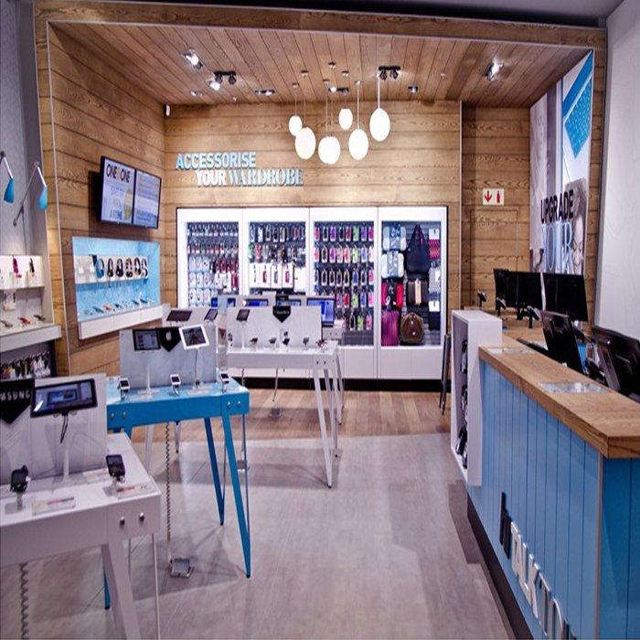 Professional mobile shop interior design for mobile phone display