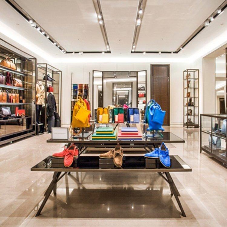 High quality clothes display rack for garment shop interior design