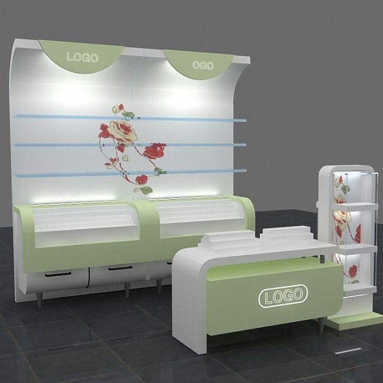 Customized factory price cosmetics display unit for cosmetic display