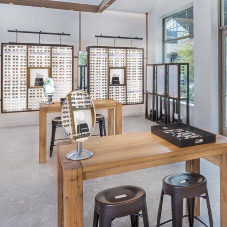 Factory customized eyeglass display counter for optical shop interior design