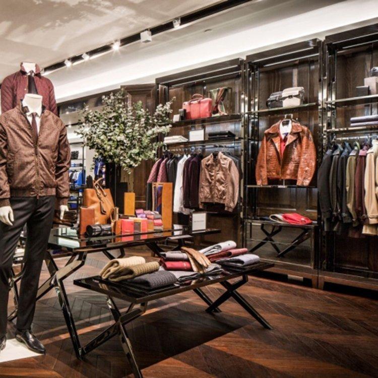 Professional modern shop counter design for garment store