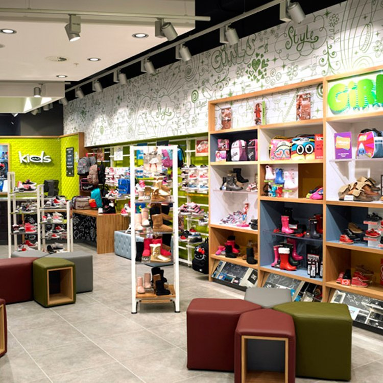 Customized durable furniture for shoe store