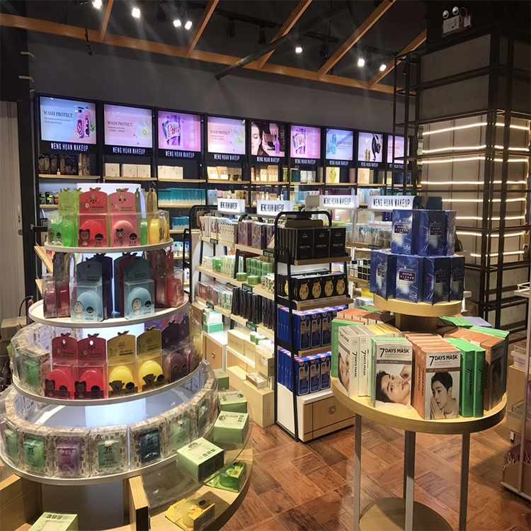 High end attractive cosmetic shop interior design for cosmetic sale
