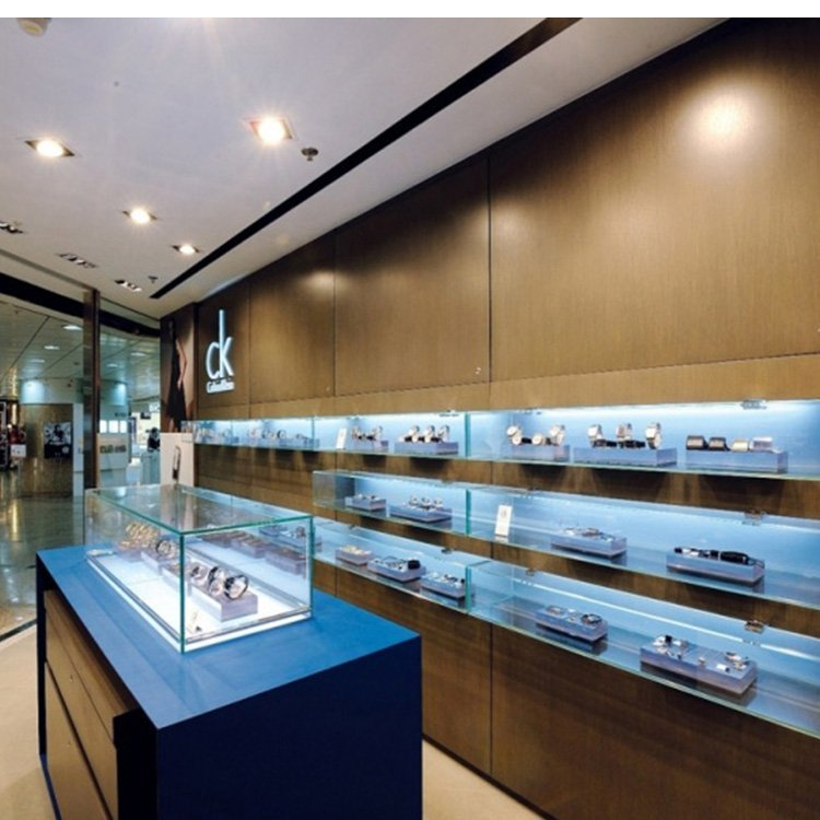 Customized high end attractive display glass cabinet for watch display