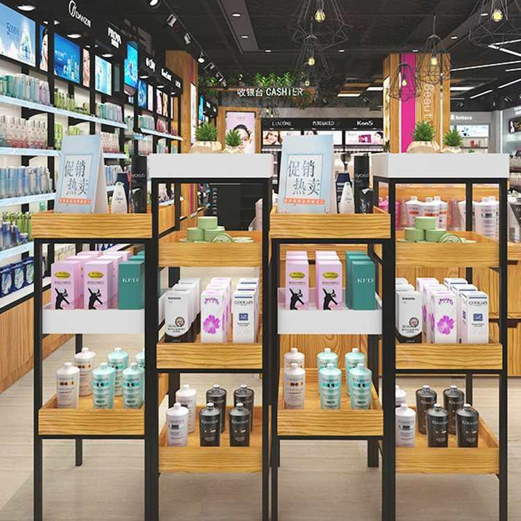 High end attractive cosmetic shop counter design for cosmetic display