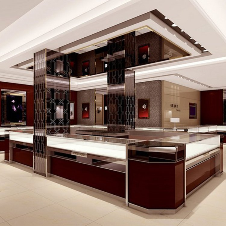 Factory customized high end jewelry kiosk for jewelry display