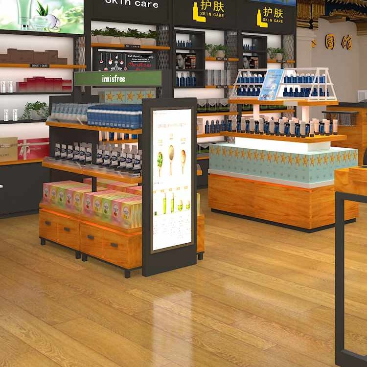 Attractive hardware shop counter design for cosmetic display