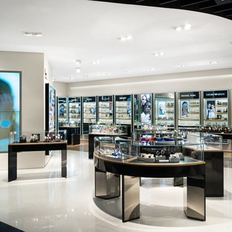 Customized high end store display showcase for watch sale