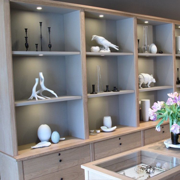 Simple style jewelry display cabinet for jewelry display