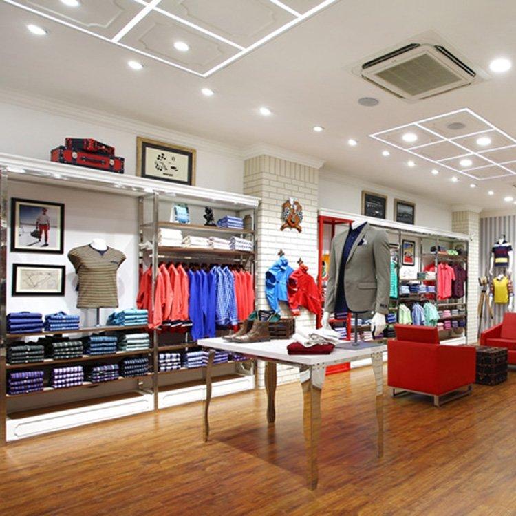 Elegant clothing shop furniture design for clothing display
