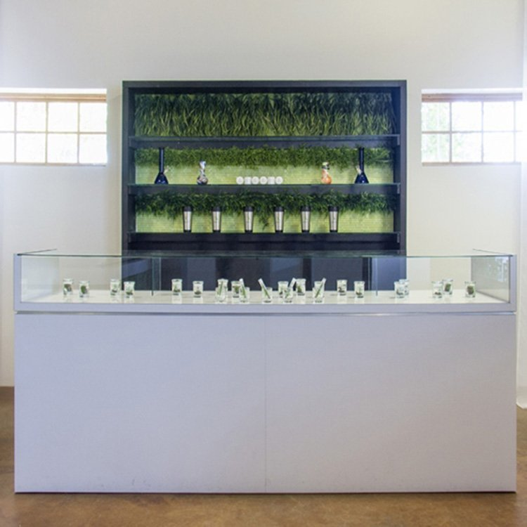 Factory customized high end glass display case for jewelry display