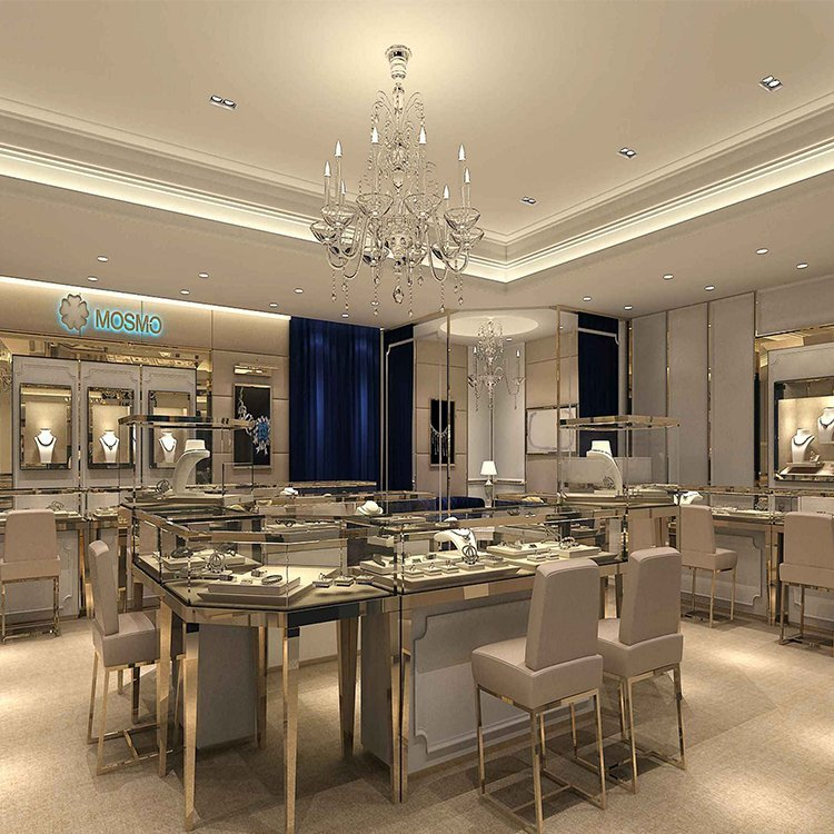 Beautiful attractive jewelry store furniture for jewelry display