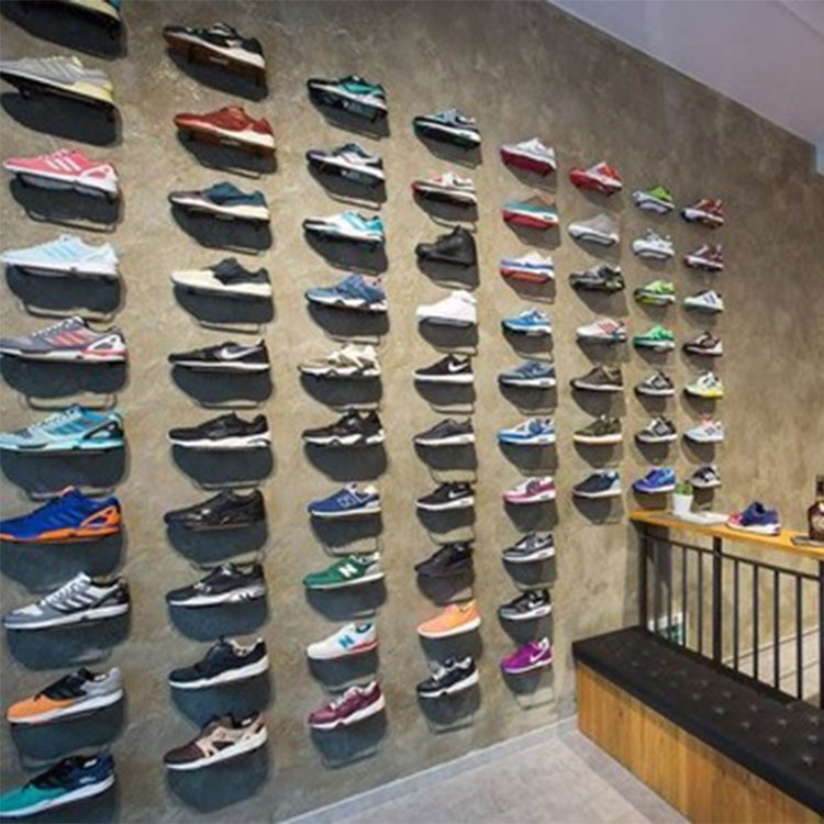 High end popular shoe display rack for gym shoes displays