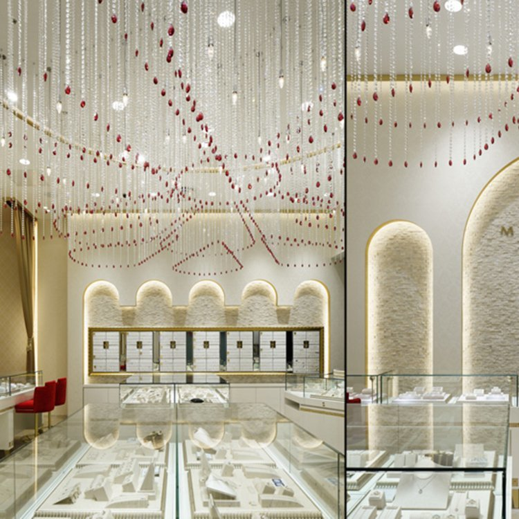 Creative attractive jewellery shop counter design