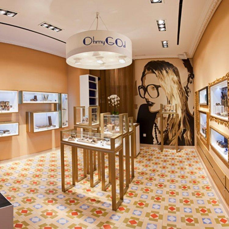 Creative attractive jewellery shop furniture design for jewellery sale