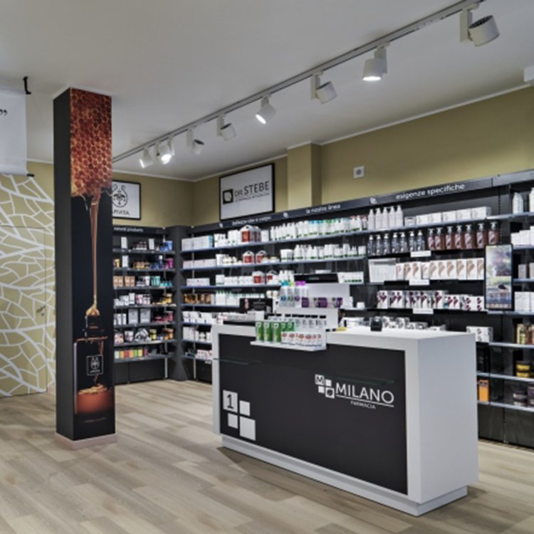 Modern attractive medical store counter design