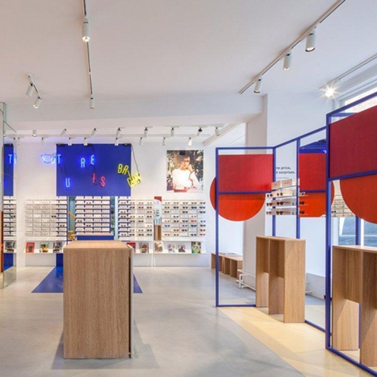 Popular modern sunglass display stand for sunglass shop interior design
