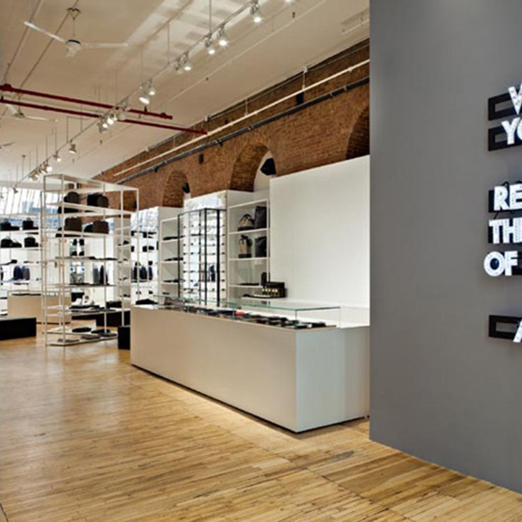 Customized high end bag display stand for bag shop interior design