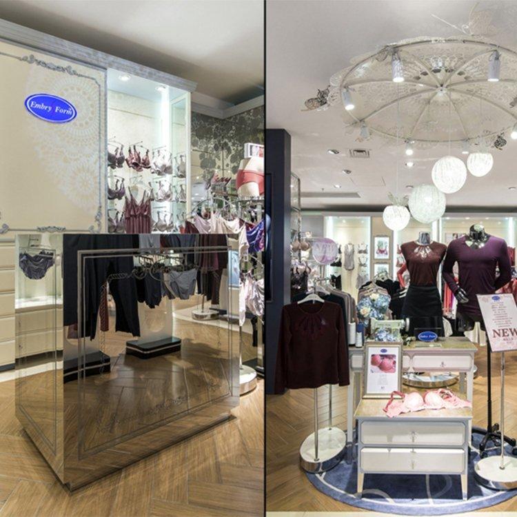 Retail shop high quality lady underwear display rack lingerie display rack