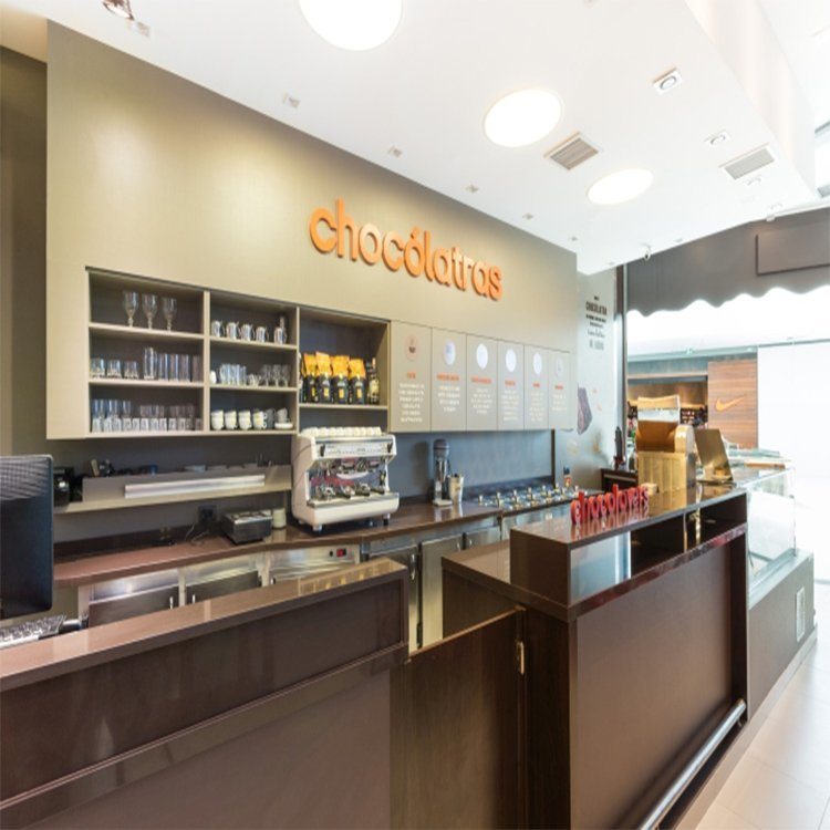 Professional modern popular chocolate shop counter design