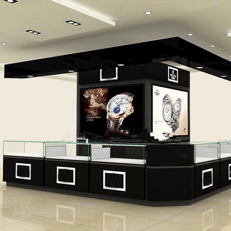 Customized high end popular mall kiosk for watch display